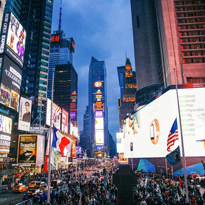 image of busy New York City Times Square