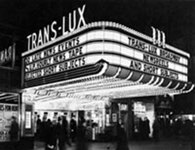 Trans Lux Theatre at Night